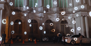 outdoor buidling projection mapping